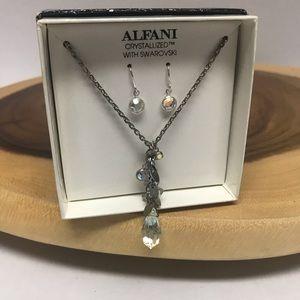 Alfani Boxed Jewelry Gift Set  Swarovski Crystals